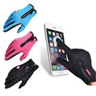Touch Screen Leather Thermal Snow Ski Snowboarding Gloves Fleece Liner Windproof