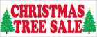 CHRISTMAS TREE Sale Banner 50% everything must go store wide