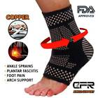 Copper Ankle Support Brace Compression Sleeve Tommie Fit Sports Foot Pain Relief