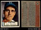 1952 Topps #205 Clyde King Dodgers VG