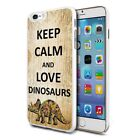 For Various Phones Design Hard Back Case Cover Skin -Love Dinosaurs
