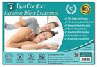 Set of 2 Cotton Terry Pillow Protector, Bed Bug & Dust Mite Bacteria, Waterproof image