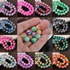 Wholesale Lot 6mm 8mm 10mm 12mm Round Loose Spacer Glass Beads Jewelry Making