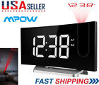 LCD Digital LED Projector Projection Snooze Alarm Clock Time Red Backlight