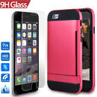 "Hands-Free Dual-Layer Case+2 Pack Real Glass Film F Iphone 6/ 6S 4.7""(Gery/Pink)"