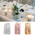 "12""x108"" Gold/Silver Glitter Sequin Table Runner Sparkly Wedding Party Deco"
