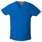 Dickies Scrub Top 81906 Mens EDS V-Neck Scrub Top Medical Uniform Free Shipping <br/> ~~14 COLORS~~    Sizes - S to 5XL   ~~FREE SHIPPING~~