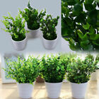 Artificial Fake Planter Grass Potted Ball Plant Bonsai Outdoor Home Garden Decor