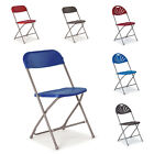 Flat Back Fan Back Folding Chairs School Education College Various Colours