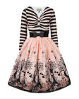 Lindy Bop Sinead Pink Fairies Swing Dress BNWT Vintage 50's Fifties Stripes