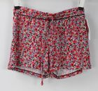 Gilligan O'Malley Total Comfort Fluid Knit Sleep Lounge Shorts Red Floral
