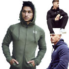 Men's Heavyweight Zip Up Hoodie Gym Workout Casual Jackets Sweatshirts Hooded