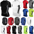 skins tights men - Men Tshirt Compression Under Skin Base Layer Athletic Apparel Top Vest Workout