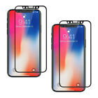 [4-Pack] For iPhone X Case Friendly Privacy Full Tempered Glass Screen Protector