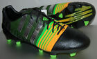 Micoach compatible soccer cleats - Adidas Men Nitrocharge 1.0 FG SoccerShoes, M17722, Black/Green/Silver, US Sizes