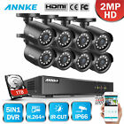 SANNCE 4CH/8CH 1080P HDMI DVR 1500TVL 720P TVI IR CUT Security Camera System 1TB