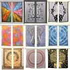 Mandala Window Door Curtain Tie Dye Multi Color Hippie Bohemian Gypsy Curtains