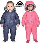 SNOZU INFANT FLEECE LINED QUILTED SNOWSUIT WINTER SNOWSUIT BOYS  GIRLS VARIETY