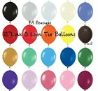 "FULL OF COLORS! Link-o-Loon 12"" Latex Helium Linking Balloons MAKE ARCHES ARBORS"