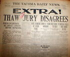Best 1907 display NEWSPAPER EXTRA Verdict HARRY THAW Stanford White MURDER TRIAL