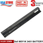 51 battery - Replace M5Y1K K185W 40WH Battery for DELL Inspiron 3451 3458 5551 5555 5558 lot