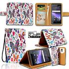 Leather Wallet Stand Magnetic Flip Case Cover For Various HTC Desire Phones