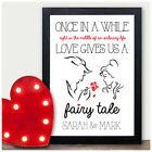 PERSONALISED Valentines Day Gifts Beauty and the Beast Fairytale for Him Her