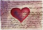 """Aceo art card valentine's day""""2.5 x 3.5"""" watercolor"""