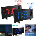 Projection Digital Snooze LED Alarm Clock Backlight Time Display Alarm Snooze US