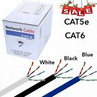 cat 5 cat 6 cable - CAT5E/ CAT6 0.5/0.56 Copper Cable 1000FT UTP Solid Network Ethernet Bulk Wire OY