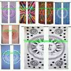 Mandala Curtains Peacock Ombre Tie Dye Window Treatment Drapes Valances 2 Pc Set