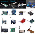 Ports PCI-E to USB 3.0 PCI Express Expansion Card Power Connector Board Panel