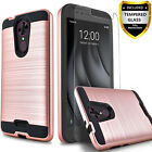 T-Mobile REVVL Plus Case, Hybrid Shockproof Case + Glass Protector