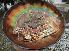 Millersburg COURTHOUSE ANTIQUE CARNIVAL GLASS ICS BOWL~PURPLE~VERY BEAUTIFUL!