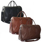 50L Mens New Quality Faux Leather Holdall Gym Travel Weekend Cabin Work Bag Case