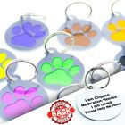 Round PET ID TAGS-Personalised Paw DOG Cat Tag-Durable Pet Discs-Engraved FREE