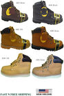 "New Men's Steel Toe Work Boots 6"" Leather Oil Resistant Work"