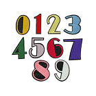 0-9 Arabic Numbers Embroidered Patch Sew Iron on Clothes T-shirt Badge Applique