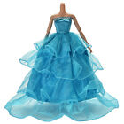 Wedding Dress for Barbies Doll Trailing Skirt Wedding Dress 5 Colors !!