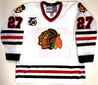 JEREMY ROENICK CHICAGO BLACKHAWKS CCM VINTAGE WHITE NHL 75TH JERSEY NEW