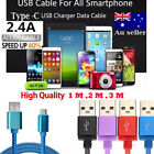 Type-C 3.1 Braided Data USB Charger Cable Samsung Galaxy S8 S8+ Plus Note 8