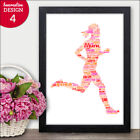 PERSONALISED Running Woman Word Art Gifts Marathon Athlete Runner for Her Gift