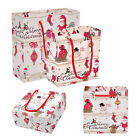 12x Lovely Christmas Paper Gift Favor Bags Xmas Party Holiday Cookies Packing