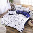 Duvet Cover with Pillow Case Bedding Set Bed Sheet + D-ring