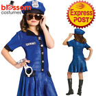 CK1093 Police Chief Girls Costume Kids Cops Uniform Book Week Fancy Dress Outfit