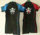 Brand New TWF Boys Blue / Black Pirate Summer Wetsuit Shortie Various Ages