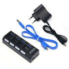 4/7 Port USB 3.0 Hub On/Off Switches AC Adapter Cable Splitter for PC Laptop LN