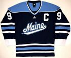 PAUL KARIYA MAINE BLACK BEARS ADIDAS REPLICA BLUE JERSEY ANAHEIM DUCKS LARGE NEW