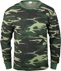 Woodland Camouflage Cold Weather Thermals Knit Underwear Shirt Top Long Johns