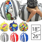 Kids Plush Toy Organizer Storage Clothes Packing Cube Bean Bag Soft Fabric Chair